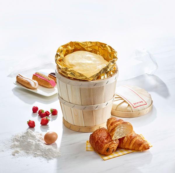Motte de 5 kg - Beurre de Baratte en Bois - Beurre AOP Echiré - Beurre d'excellence Beurres Échiré